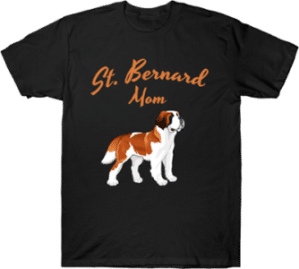 Saint Bernard Dog Mom T shirt
