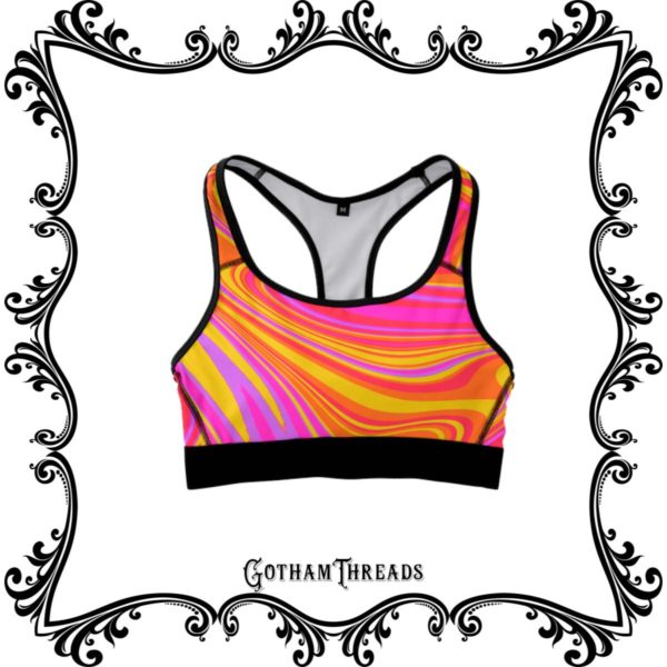 Colorful Sports Bras for Fitness and Yoga Casual Clothing