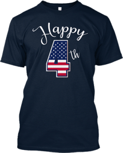 American Happy Fourth of July T shirt