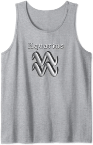 Aquarius Sign Tank Top Modern Symbol