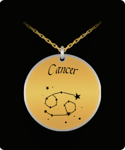 Cancer Zodiac Constellation Necklace Pendant