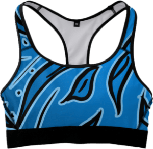 Blue Fitness Sports Bra