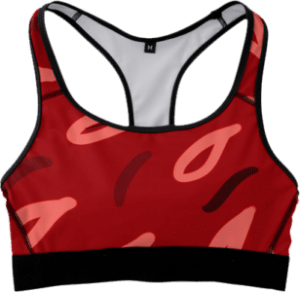 Red Fitness Sports Bra