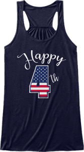 Women's Tank Top Happy 4th of July Independence Day America