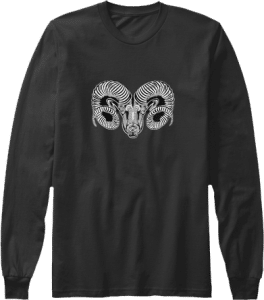 Long Sleeve Aries Ram Zodiac Shirt