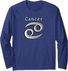 Long Sleeve Cancer Zodiac T shirt