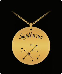 Sagittarius Zodiac Constellation Necklace Pendant