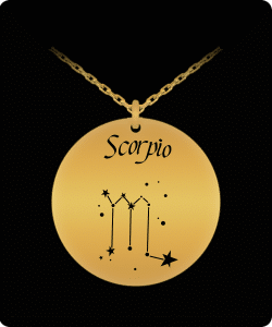 Scorpio Zodiac Constellation Necklace Pendant