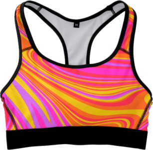 Candy colored sports bra