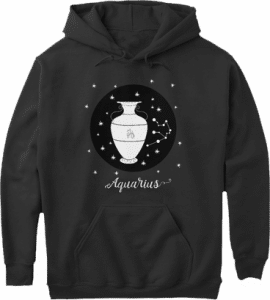 Aquarius Zodiac Sign Constellation Hoodie
