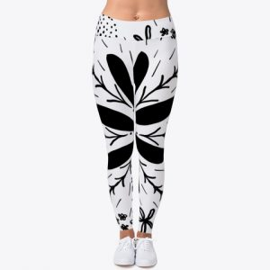 Black and White Activewear Leggings