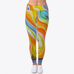Melted Candy Colored Leggings