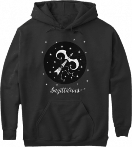 Sagittarius Zodiac Sign Constellation Hoodie