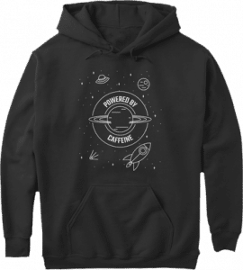 Universe Powered by Caffeine Hoodie