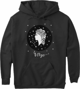 Virgo Zodiac Sign Constellation Hoodie
