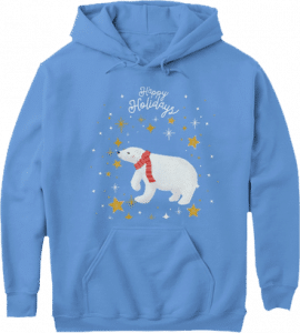 Polar Bear Nature Animals Happy Holidays Christmas Hoodie