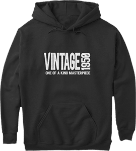 1950 vintage one of a kind masterpiece birth year hoodie