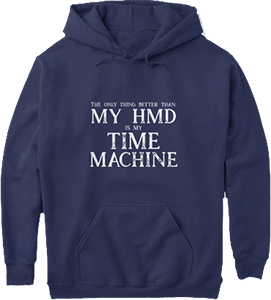 Only thing better than my HMD is my time machine virtual reality hoodie