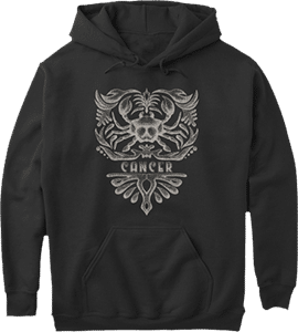 Vintage Cancer Zodiac Sign Hoodie