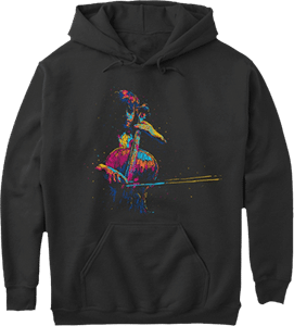 Cellist Cello Player Musician Hoodie