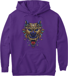 Colorful Wild Wolf Hoodie