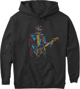 Electric Guitar Art Hoodie
