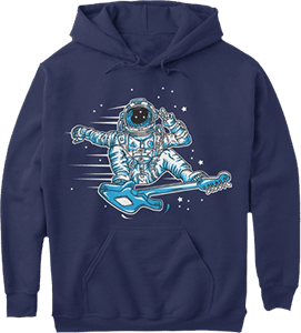 Guitar Skateboarding Spaceman Astronaut Music Hoodie