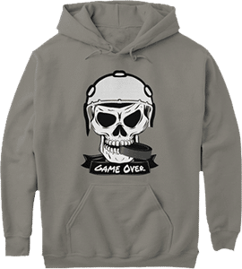 Hockey Puck Helmet Game Over Sports Hoodie