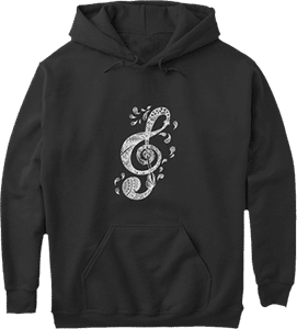 Music G Cleff Musical Hoodie