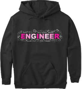 Women in Technology Pink Engineer Female Stem Hoodie