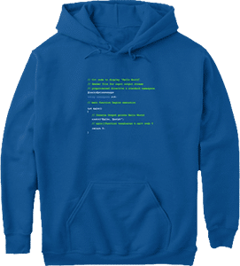 Programming C plus plus Hello World Hoodie