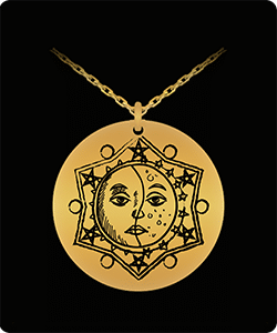 Sun and Moon Astrology pendant necklace