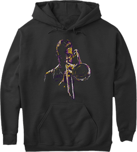 Trombone player band musicians hoodie