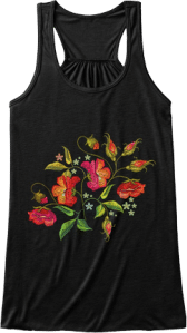 Cute Botanical Tank Top for Her