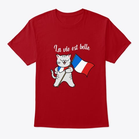French Cat Shirt French Flag