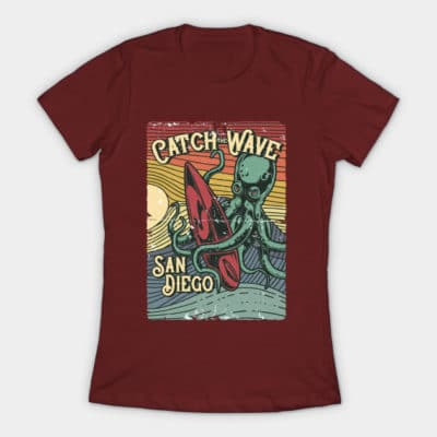 catch the wave san diego surfing sailing shirt