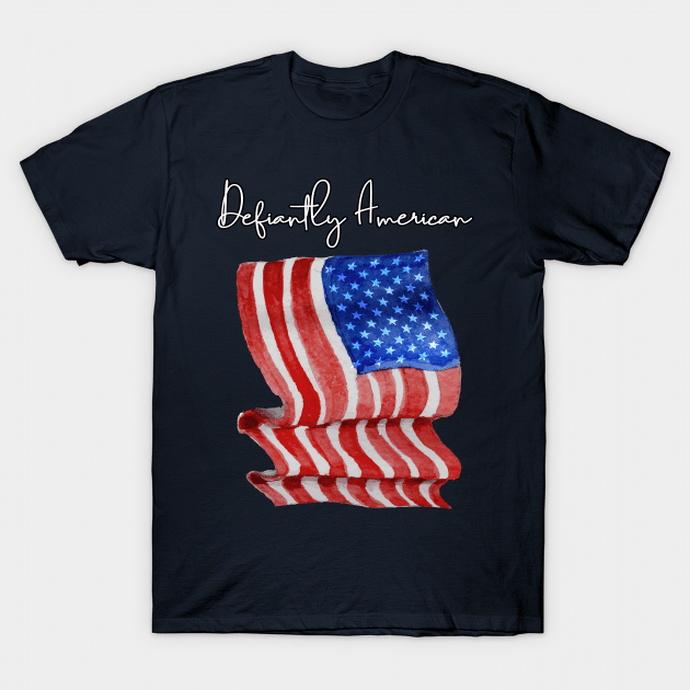 defiantly American flag shirt