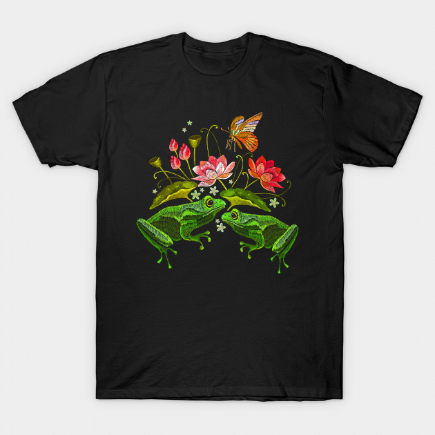 flowers and frog shirt