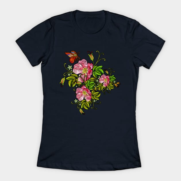 spring flowers butterfly shirt