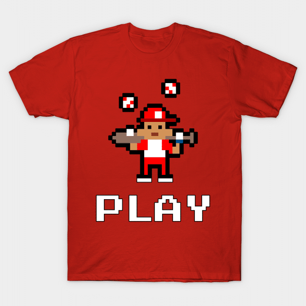 gaming pixel art baseball shirt