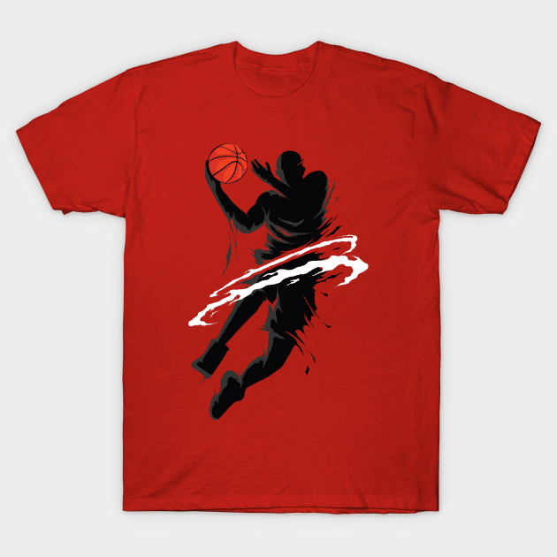 jump basketball shirt