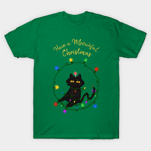 Meowful Christmas cat shirt