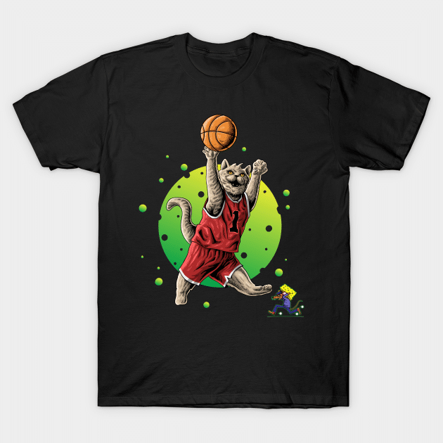 mouse and cat basketball shirt