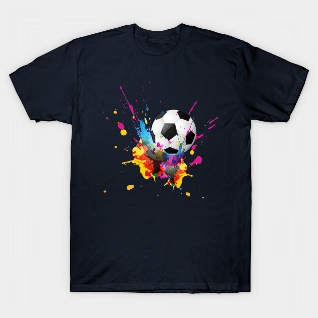 paint splash soccer shirt