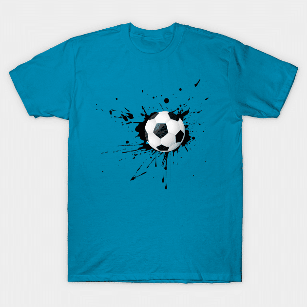 paint splat soccer shirt